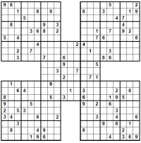 graphic about Samurai Sudoku Printable known as Samurai Sudoku: A - Z of Puzzle Content