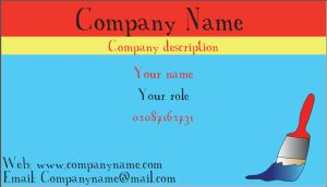 get a personalised business card