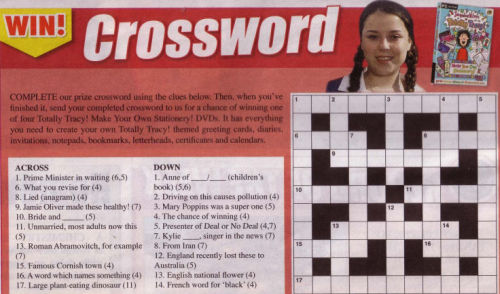 Childrens Crossword Puzzles